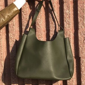 Neiman Marcus Olive Green Tote